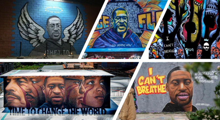 """""""I can't breathe"""" – art throughout the world that memorialize George Floyd."""